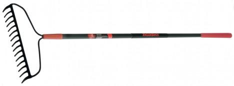 Fiberglass Handle 15-Tine Forged Bow Rake