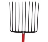 10-oval tine Ensilage Fork, D-Grip